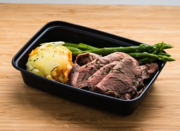 Top Sirloin Steak with Mashed Sweet Potatoes **Premium Meal Item**