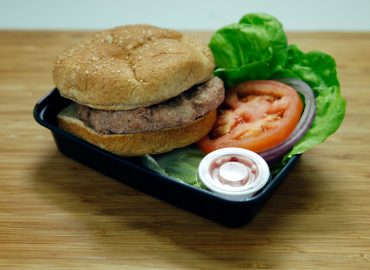 Turkey Burger with Cranberry Aioli