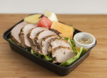 Jerk Pork Tenderloin Salad w/Fresh Fruit
